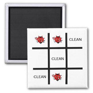Teufel sauberer Tic Tac Zehe-Spülmaschinen-Magnet Quadratischer Magnet