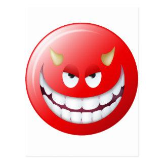 Teufel-Smiley 2 Postkarte