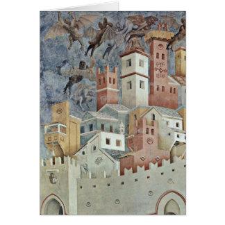 Teufel-städtische Landschaft durch Giotto Di Grußkarte