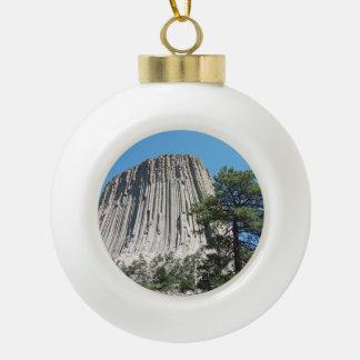 Teufel-Turm Wyoming Keramik Kugel-Ornament