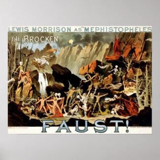 Teufel und Faust Poster