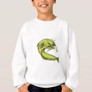 Teufel-Wels-springendes Zeichnen Sweatshirt