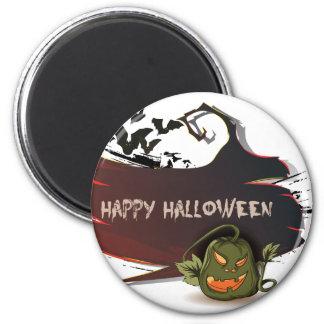 Teufelkürbis glückliches Halloween Runder Magnet 5,7 Cm