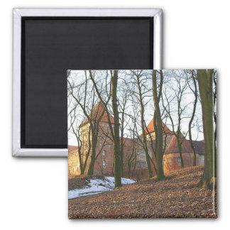 Teutonic Auftragsschloss Neidenburg - Magnet Quadratischer Magnet