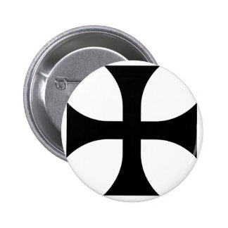Teutonic Kreuz #2 Runder Button 5,7 Cm