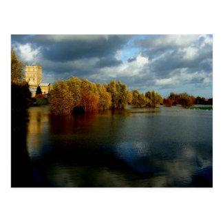Tewkesbury Abtei, England, Postkarte