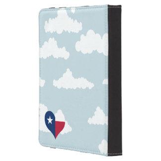Texan-Flagge auf einem bewölkten Hintergrund