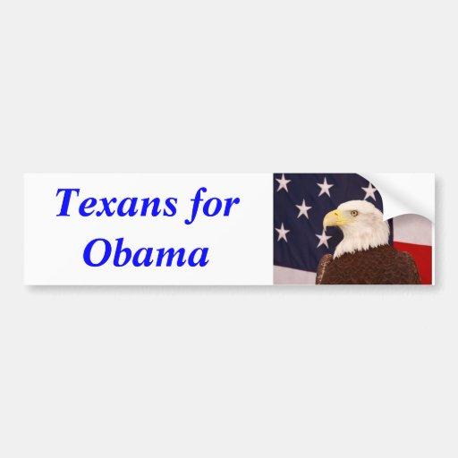 Texans für Obama-Autoaufkleber 2012