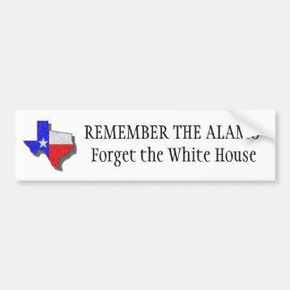 texas2, ERINNERN SICH DAS AN ALAMO, das Weiße Haus Autoaufkleber