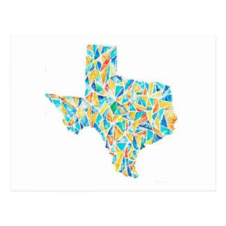 Texas-Aquarell-kundengerechte Postkarte
