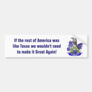 Texas bereits große Spottdrossel u. Bluebonnet Autoaufkleber