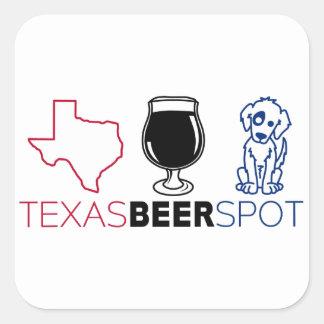 Texas-Bier-Stelle Quadratischer Aufkleber