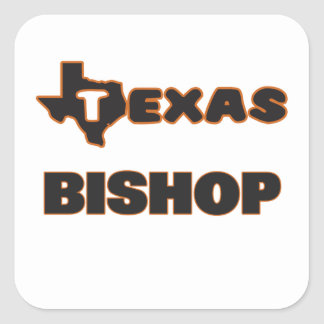 Texas-Bischof Quadrat-Aufkleber