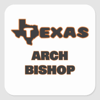 Texas-Bogen-Bischof Quadrat-Aufkleber