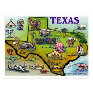 TEXAS-Cartoon-Karte Postkarte