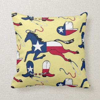 Texas-Cowboystiefel-Hutpferd Ropes auf JEDER Kissen