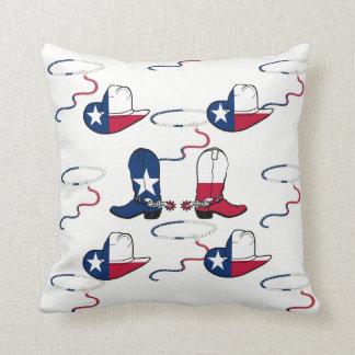 Texas-Cowboystiefel und Hüte auf IRGENDEINER FARBE Kissen
