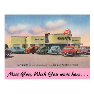 Texas, das Café des Homosexuellen, Childress Postkarten