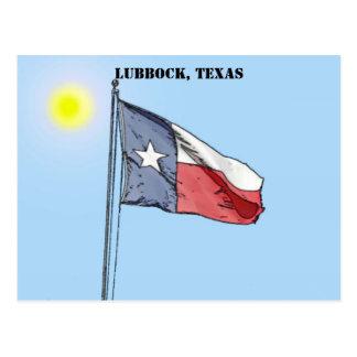 Texas-Flagge, Lubbock, Texas Postkarte