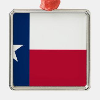 Texas-Flagge - Texan-Stolz Silbernes Ornament
