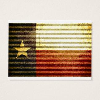 Texas-Flaggen-alter Zinn-Dachgang Visitenkarte