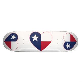 Texas-Flaggen-Herz Bedruckte Skateboarddecks