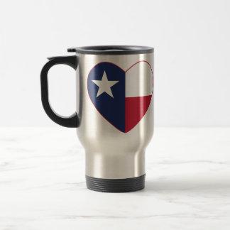 Texas-Flaggen-Herz Reisebecher