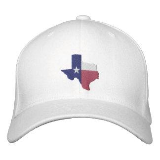 Texas-Flaggen-Karte Bestickte Kappe