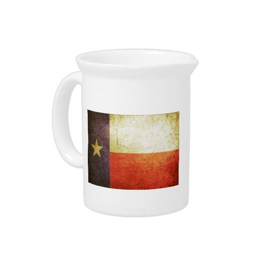 Texas-Flaggen-Schmutzeffekt Krug