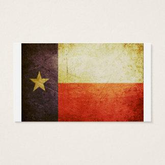 Texas-Flaggen-Schmutzeffekt Visitenkarten