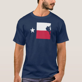 Texas-Flaggen-T - Shirt - Felsen-Klettern