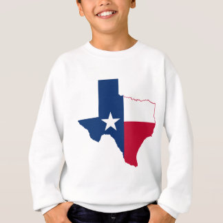 Texas-Flaggenkarte Sweatshirt