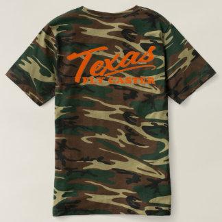 Texas-Fliegen-Gießmaschine CAMOUFLAGE T-Stück T-shirt