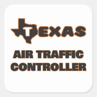 Texas-Fluglotse Quadratischer Aufkleber