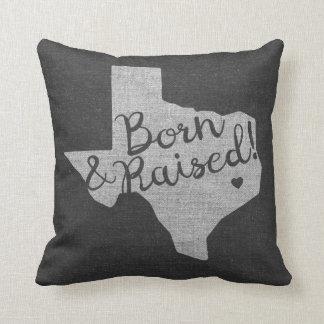 Texas geboren und angehoben kissen