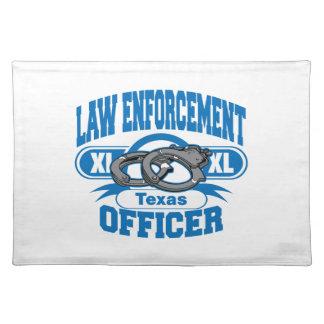 Texas-Gesetzeshüter-Handschellen Stofftischset