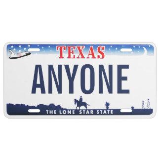 Texas-Gewohnheits-Kfz-Kennzeichen US Nummernschild