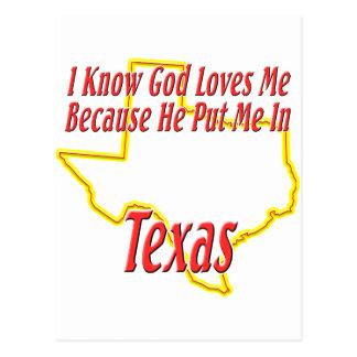 Texas - Gott-Lieben ich Postkarte