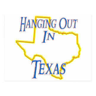 Texas - heraus hängend postkarte