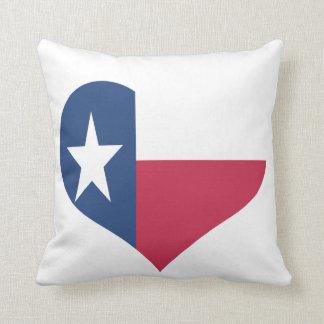 Texas-Herz-geformte Flagge Kissen