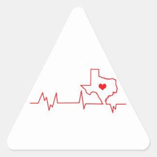 Texas-Herzschlag Dreieckiger Aufkleber
