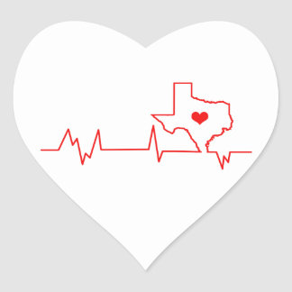 Texas-Herzschlag Herz-Aufkleber