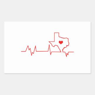 Texas-Herzschlag Rechteckiger Aufkleber