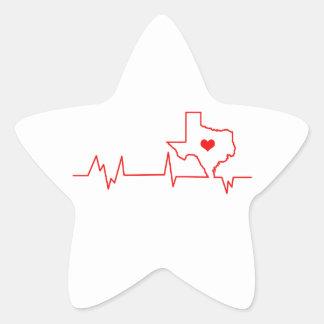 Texas-Herzschlag Stern-Aufkleber