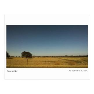 Texas-Himmel Postkarte
