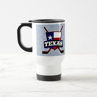 Texas-Hockey-Flaggen-Logo-Reise-Schale Reisebecher