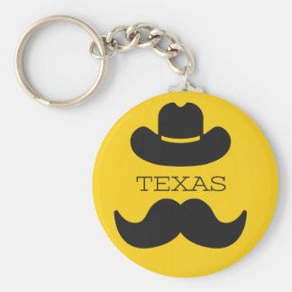Texas im Gelb Schlüsselanhänger