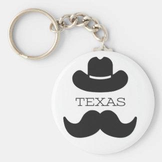 Texas im Weiß Schlüsselanhänger