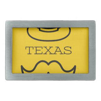Texas in Gelb 2 Rechteckige Gürtelschnalle
