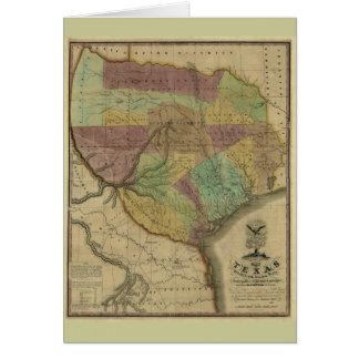 Texas-Karte 1837 mit Teilen der anliegenden Karte